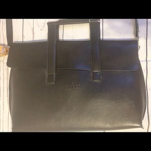 Gucci Authentic Vintage dark brown leather…